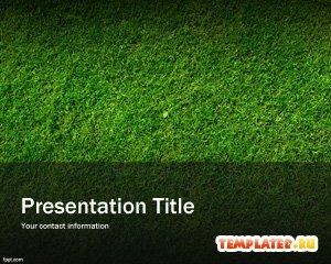 Шаблон PowerPoint Зелёная трава