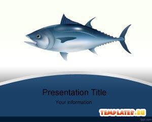 Шаблон PowerPoint Рыба тунец