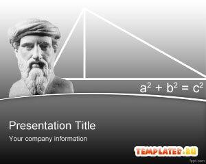 Шаблон PowerPoint Теорема Пифагора
