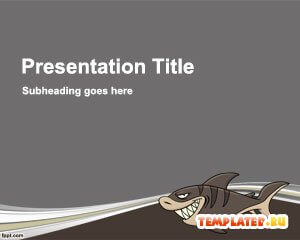 Шаблон PowerPoint Акула