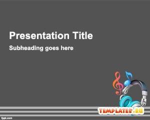 Шаблон PowerPoint Наушники