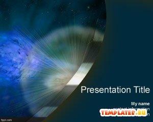 Шаблон PowerPoint Рождение звезды