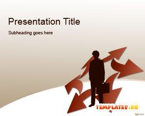 Шаблон PowerPoint Конкурентная стратегия