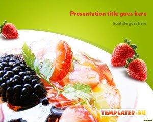 Шаблон PowerPoint Фруктовый салат