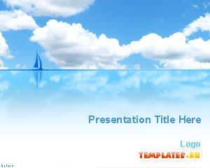 Шаблон PowerPoint Голубой океан