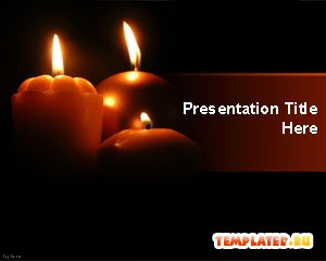 Шаблон PowerPoint Праздничные свечи