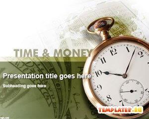 Шаблон PowerPoint Карманные часы