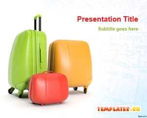 Шаблон PowerPoint Багаж путешественника