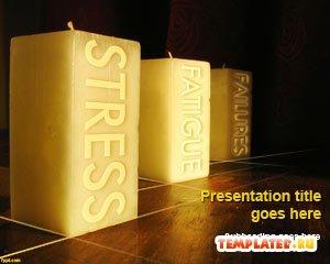 Шаблон PowerPoint Квадратные свечи