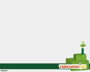 Шаблон PowerPoint Зеленый завод