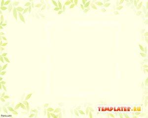 Рамка из зеленых листьев