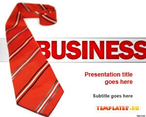 Шаблон PowerPoint Деловой галстук