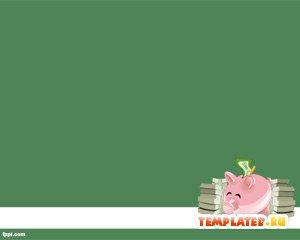 Шаблон PowerPoint Копилка с деньгами