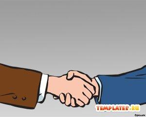 Шаблон PowerPoint Удачные переговоры