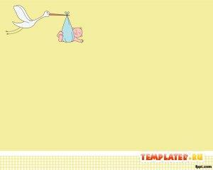 Аист с ребенком