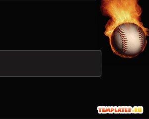 Шаблон PowerPoint Огненный теннисный мяч