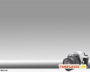 Шаблон PowerPoint Зеркальный фотоаппарат
