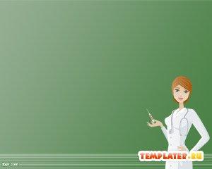 Шаблон PowerPoint Медсестра
