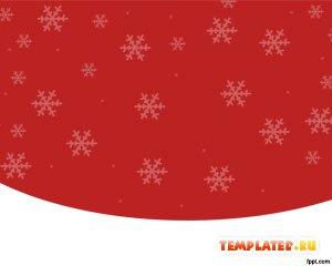 Снежинки на красном фоне